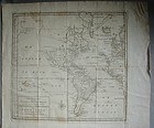 1754 Map of Western Hemisphere Isaak Tirion Amsterdam