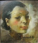 """Shanghai Dancing Girl 1936""  Oil/Panel  Listed Artist"