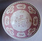 Large Armorial Chinese Export Style Samson Bowl