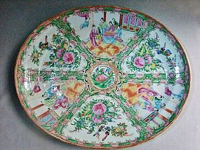 Rose Medallion Platter - 19th Century Export