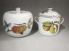 Covered Sugar and Jam Pot Evesham Royal Worcester ca 1970