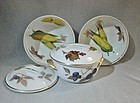 2 Salad Bowls One Lidded Bowl  Evesham Royal Worcester ca 1970