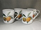 4 Coffee Mugs Evesham Royal Worcester ca 1970