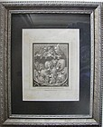 Original Engraving William Hogarth 1809 - Consultation of Physicians