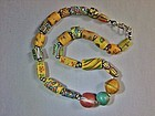 19th Century Venetian Glass African Trade Bead Necklace