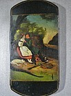 Papier Mache Cheroot Case - ca 1840 - Painted Scene of Couple