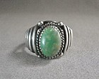 Vintage Large Size Sterling/Turquoise Navajo Ring - Rob Livingston