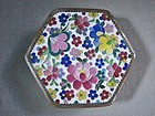 Hexagonal Cloisonne Box - Inaba Style