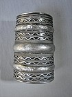 Wide Banded Silver Cuff Bracelet - Indian Sub Continent