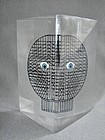 Merle Edelman Op Art Triangular Lucite Face - 1960s