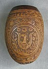 Intricately Carved Gourd NICARAGUA Coat of Arms 1902 Signed