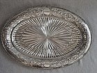 Elkington Ribbed Repousse Oval Serving Dish - Silver Plate 1888