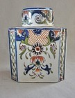 19th Century French Faience Tea Caddy - Signed - Desvres
