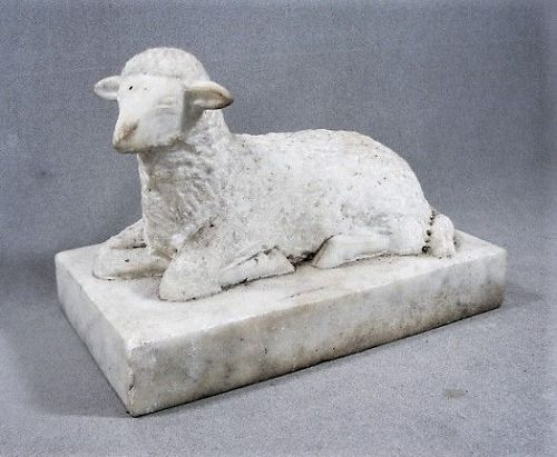 Exceptional Marble Lamb - 19th Century - Good Size and Quality