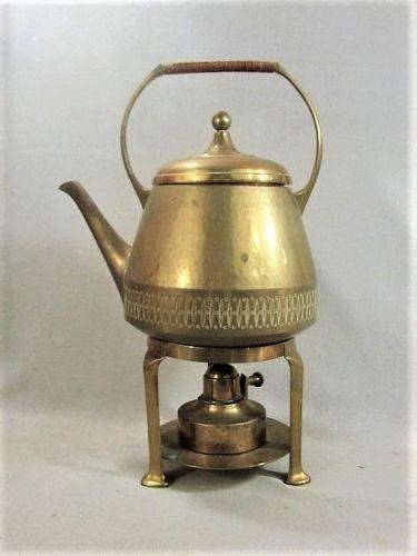 WMF Brass Kettle on Stand -Jugendstil - Secessionist - ca 1905