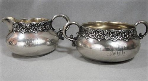 Dominick and Haff Sugar and Creamer ca 1890