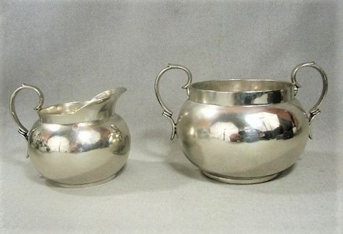 Tiffany and Company Sterling Creamer and Sugar Bowl
