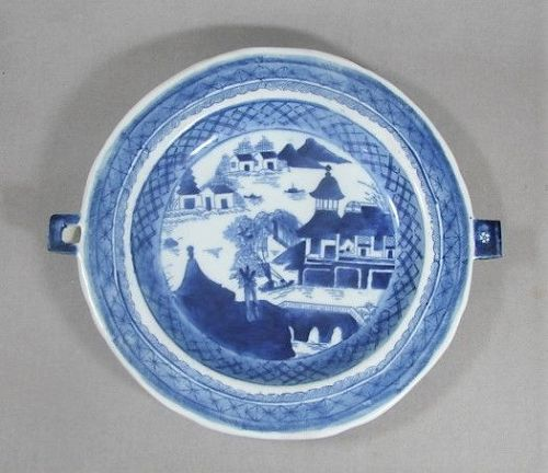 Canton Hot Water Warming Plate - ca 1850