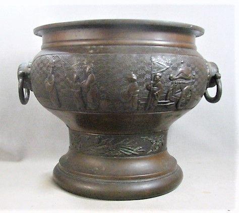 "Large 12 1/4"" Bronze Handled Urn - 19th Century- Chinese"