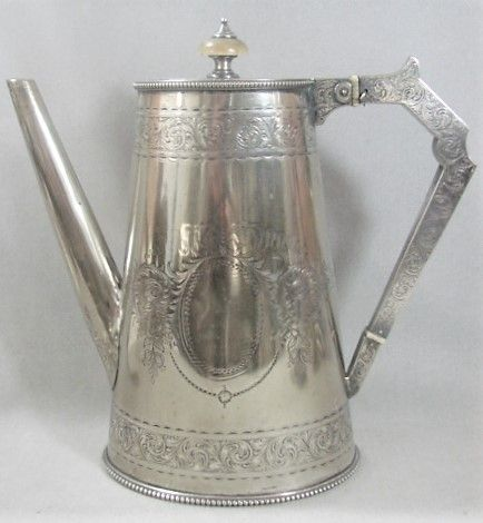 Engraved Elkington Coffee Pot -Victorian Era