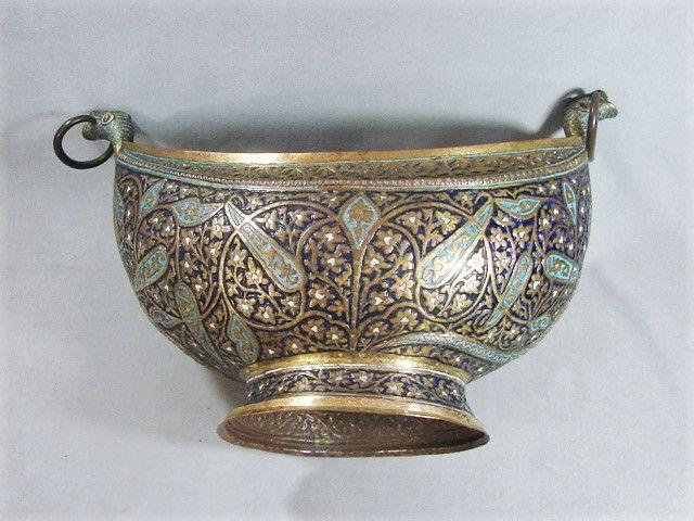 Kashmir Kashkul - Enameled and Gilded - 19th century