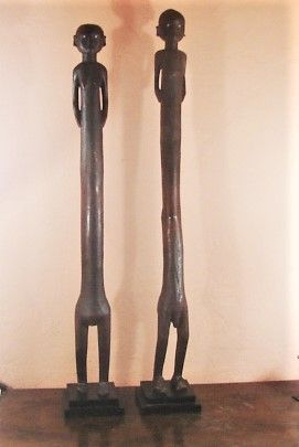 Pair Nyamwezi Figures - Tanzania - Exceptional Sculptural Forms