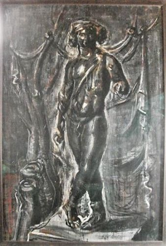 Roman Chatove Large Painting - Dancer - Classical Figure
