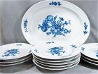 Antique Royal Copenhagen Dining Set - ca 1875 - Blue Flower - 12 piece