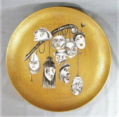 Arrigo Finzi Surrealist Porcelain Charger - 1950's - Italy - Daliesque