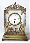 Bronze Mounted Heavy Crystal Clock - 19th Century - Continental