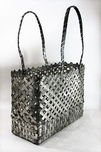 Tin Basket - 10th Anniversary Gift - ca 1870