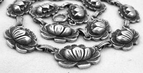 Sterling DANECRAFT Lotus Necklace