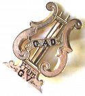 Lyre Pin - 14k Rose Gold - Victorian