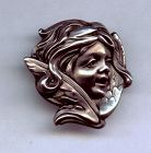 Art Nouveau Winged Sprite Pin