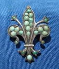 Victorian Turquoise Pin