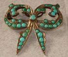 Pavé Turquoise Brooch