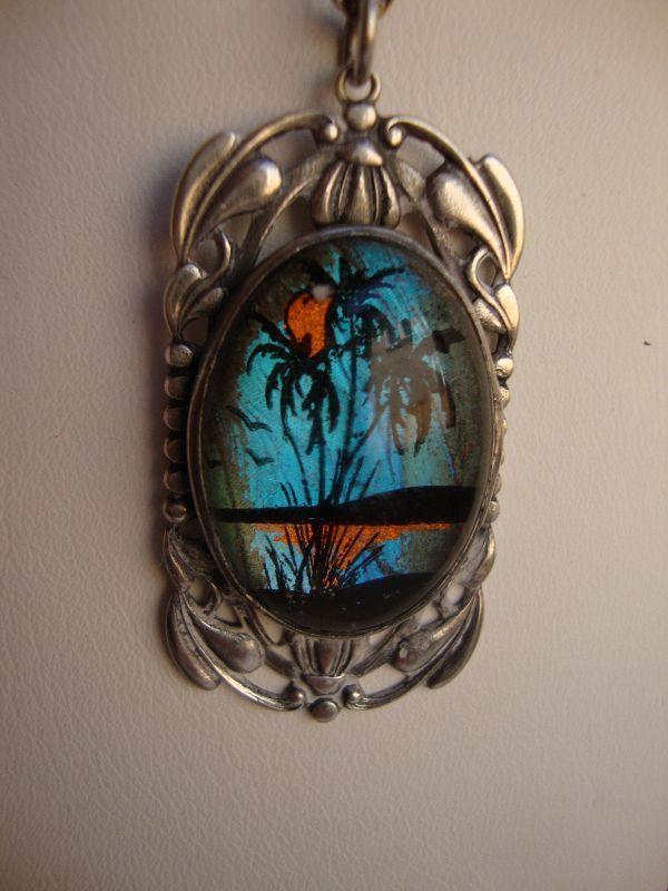 Butterfly Pendant & Earrings