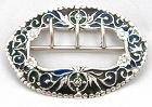 Plique a Jour Silver Sash Buckle � 1886 � Rare