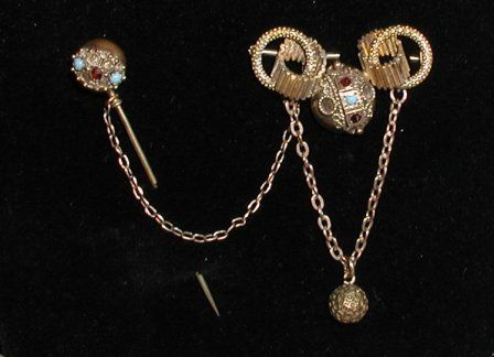 Elaborate Victorian Pin with Stickpin