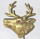 Elk Stickpin � 14kt Gold