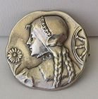 St. Catherine Silver Pin or Brooch