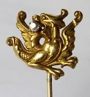 Griffin or Dragon Stick Pin � Diamond 14kt