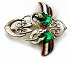 Celtic Interlace Bird Brooch or Pin