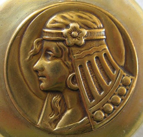 Maid in the Moon Locket - Egyptian Revival