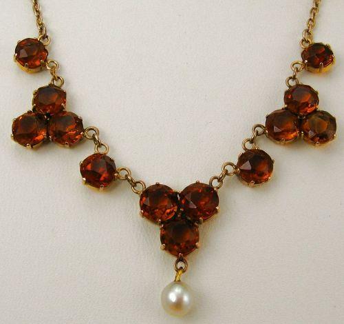 Madeira Citrine Rose Gold Necklace