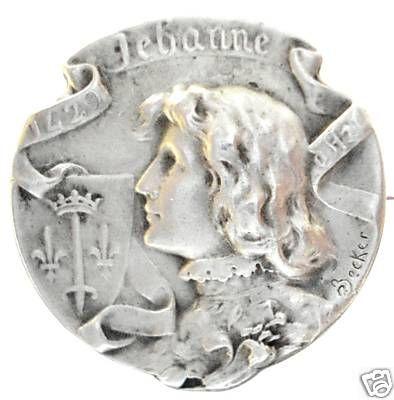 Joan of Arc Brooch by BECKER - French Fin de Siecle