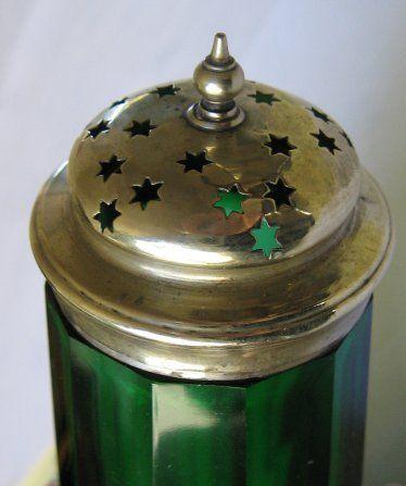 Green Glass Sugar Shaker - England