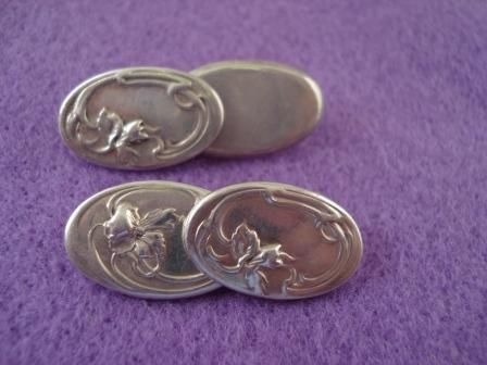 Unger Bros Sterling Cufflinks