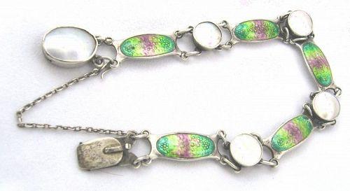 Enamel & Pearl Bracelet by SCHAVERIEN & EASTMEAD 1909