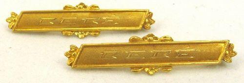 Matched Pair of 9k BEBE (Baby) Pins
